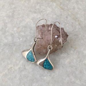 Vintage Navajo Sterling Silver Earrings